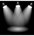 Background with lighting lamp empty space for your vector