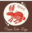 Rabbit chinese zodiac sign vector