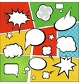 Comic strip and comic speech bubbles on colorful vector