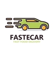 Fast delivery car logo vector