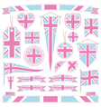 Pink and blue uk vector