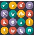 Rock music icons flat vector