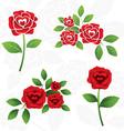 Red roses heart shape inside vector