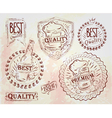 Beer quality elements brown vector