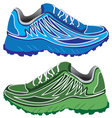 Sport shoes couple vector