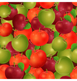 Seamless texture of apples vector