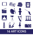 Art icons set eps10 vector