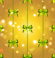 New year christmas wallpaper with bow and ribbon vector