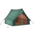 Green tent vector