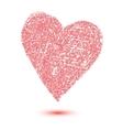 Heart shape design for love symbols vector