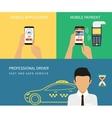 Booking taxi vector