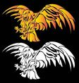 Super eagle fire tribal abstract vector