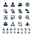 Human resource management icons vector