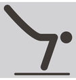 Gymnastics artistic icon vector
