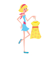 Girl with fashion dress vector