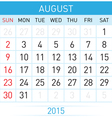 Monthly calendar vector