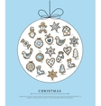Blue greeting card with christmas gingerbreads vector