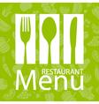 Restaurant menu card vector