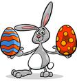 Bunny and easter egg cartoon vector