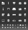 Living room icons on gray background vector