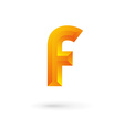 Letter f logo icon vector