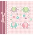 Beautiful baby greeting card vector