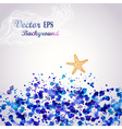 Sea theme watercolor background stain water vector