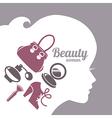 Fashion beautiful woman silhouette vector