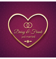 Just married wedding sign vector