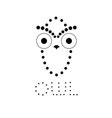 Decorative owl design template vector