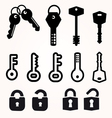 Icon key black silhouette decorative items vector