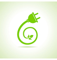 Eco electric plug icon vector