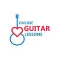 Heart guitar logo vector