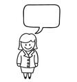 Businesswoman speech bubble vector