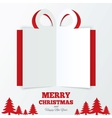 Christmas gift box cut the paper christmas tree vector