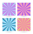 Set of sunburst backgrounds vector