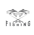 Vintage fishing design template vector