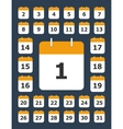 Set of calendar pages for every day vector