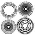 Set circle 1color 5 380 vector