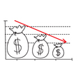 Money loss graph vector