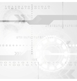 Abstract grey engineering tech background vector