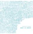 Blue lace flowers textile frame corner pattern vector