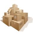 Cardboard boxes vector
