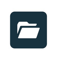 Folder icon rounded squares button vector
