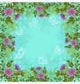 Flowers butterflies and sky vector