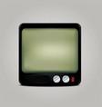Square retro tv icon vector