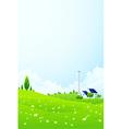 Green landscape vector