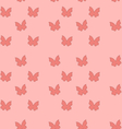 Seamless texture with butterflies cute vintage vector