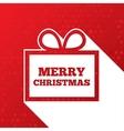 Christmas greetings card christmas paper gift box vector