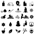 Spa icon set vector